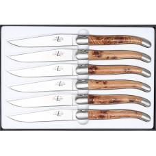 Forge de Laguiole 6er Steakmesser Set Wacholder